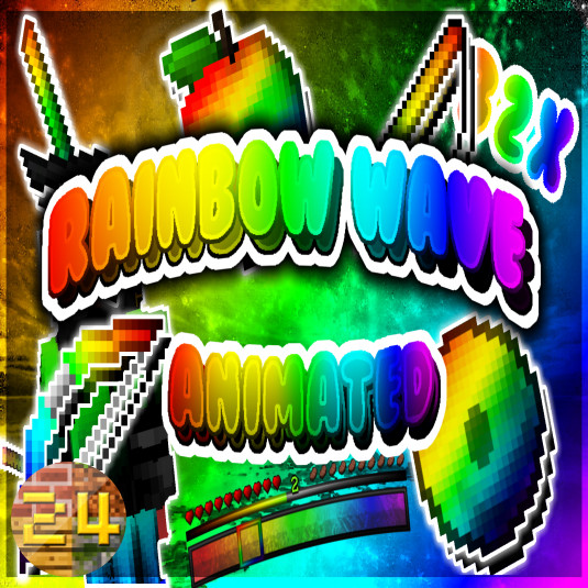 Rainbow wave (Animated) 32x