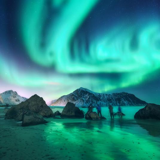 polarlights sky