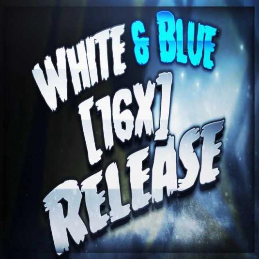 [16x] White&Blue
