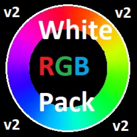 GTT White Chroma RGB pack v2 + Badlion Resourcen 1.8.9, 1.8