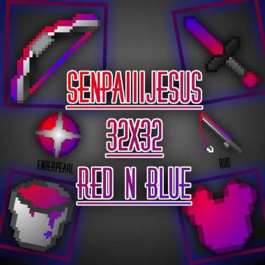 SenpaiiiJesus 32x32 RedNBlue