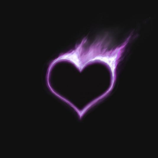 2trys purpur heart