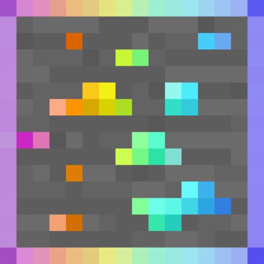 rainbow diamond overlay