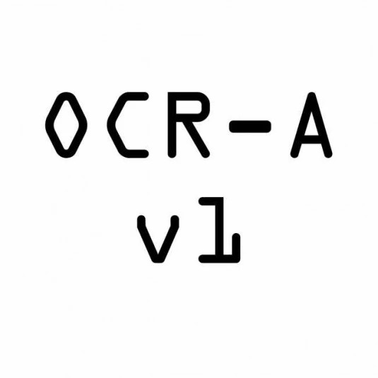 Font Pack - OCR A Extended